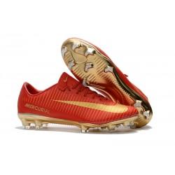 Scarpe Da Calcio Nike Mercurial Vapor XI Tech Craft FG CR7 Oro Rosso