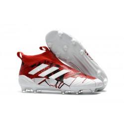 Scarpa da Calcio Adidas ACE 17+ Purecontrol FG Rosso Bianco Nero