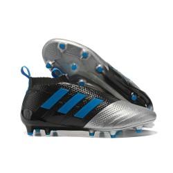 Nuove Adidas Calcio ACE 17+ Mastercontrol FG Per Uomo Nero Argento Blu