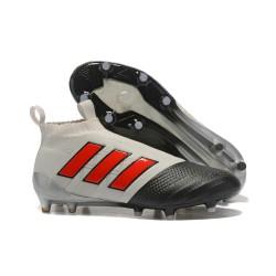 Nuove Adidas Calcio ACE 17+ Mastercontrol FG Per Uomo Grigio Rosso Nero