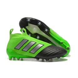 Scarpa da Calcio Adidas ACE 17+ Purecontrol FG Verde Nero Agrento