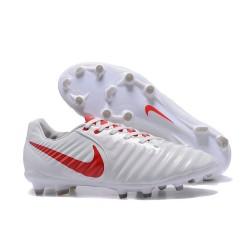 Nike Tiempo Legend 7 FG Scarpe da calcio Uomo Bianco Rosso