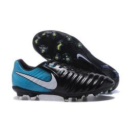 Scarpe da calcio Nike Tiempo Legend VII FG 2017 Nero Blu Bianco