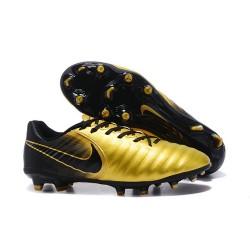 Uomo Nike Tiempo Legend 7 FG scarpe da calcio Oro Nero
