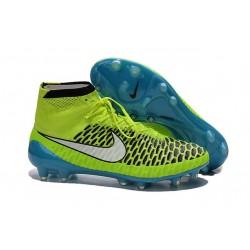 Scarpe calcio Nike Magista Obra FG - Uomo - Volt Bianco Blu Laguna Nero