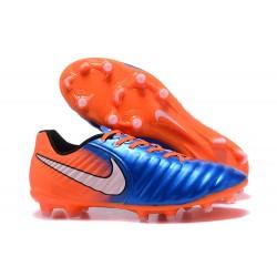 Nike Tiempo Legend 7 FG Scarpe da calcio Uomo Arancione Blu