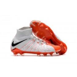 Nike Hypervenom Phantom III FG Neymar Scarpe Calcio 2017 Bianco Arancione Bianco