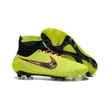Nuove Nike Magista Obra Fg, Scarpe da calcio uomo Volt Arancione Rosa Nero