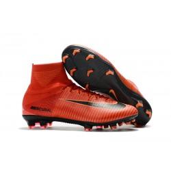 Nuove Scarpa da calcio Nike Mercurial Superfly V FG Rosso Nero