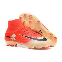 Nuove Scarpa da calcio Nike Mercurial Superfly V FG Nero Rosso Oro
