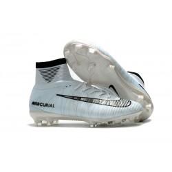 Nuove Scarpa da calcio Nike Mercurial Superfly V FG Grigio Nero Bianco
