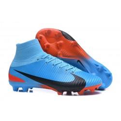 Nuove Scarpa da calcio Nike Mercurial Superfly V FG Blu Rosso Nero