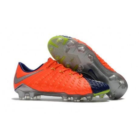 Scarpe da Calcio Nike Hypervenom Phantom 3 FG - Uomo Arancione Argento 867d096d7e6