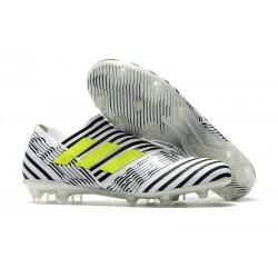 Scarpe Da Calcio Adidas - Nemeziz 17+ 360 Agility FG - Bianco Giallo Nero