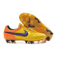 2015 Scarpe Calcio Tiempo Legend V FG Nike Arancione Laser Violetto