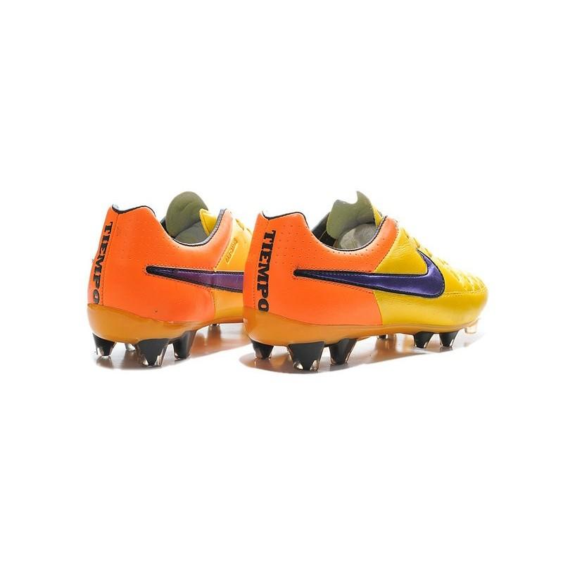 Scarpe V Arancione Violetto Calcio Laser Fg Legend 2015 Tiempo Nike jAR435L