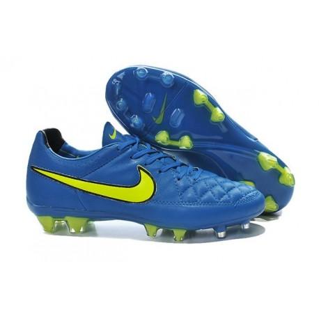 Scarpe Calcio Tiempo Legend V FG Nike Uomo Blu Volt Nero