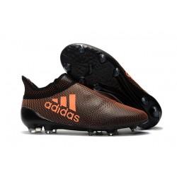 Scarpe Da Calcio - Nuovi Adidas X 17+ Purespeed FG Arancione Nero