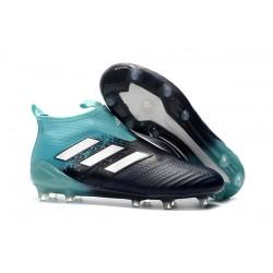 Scarpa da Calcio Adidas ACE 17+ Purecontrol FG Blu Bianco