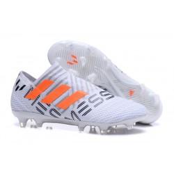 Scarpe Da Calcio Adidas - Nemeziz 17+ 360 Agility FG - Bianco Arancione Grigio
