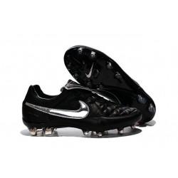 Nike Scarpe da Calcio Tiempo Legend V Fg Totti Premium Argenteo Nero