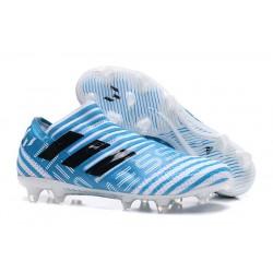 Scarpe Da Calcio Adidas - Nemeziz 17+ 360 Agility FG - Bianco Blu Blu Energia