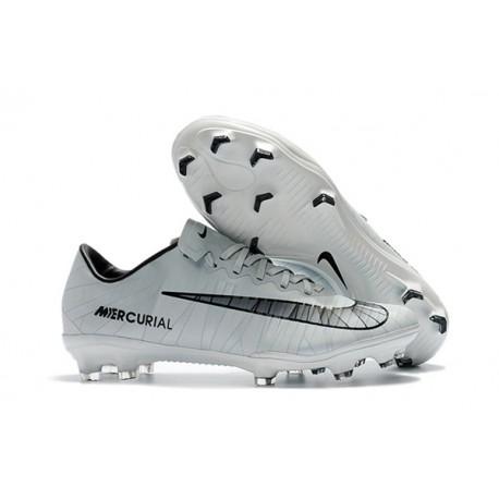 d4b50ae0e Scarpe Calcio Nike Mercurial Vapor 11 FG CR7 CR7 Grigio Nero Bianco