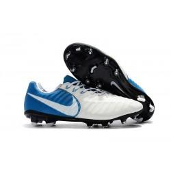 Nike Tiempo Legend 7 FG Scarpe da calcio Uomo Blu Bianco