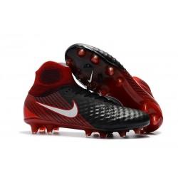 Nuova Nike Magista Obra II FG 2017 Scarpe da Calcio Nero Bianco Hyper Crimson Bright Crimson