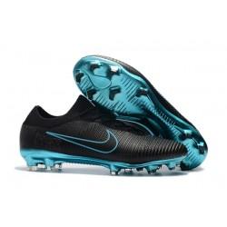 Scarpe da calcio da uomo 2017 - Nike Mercurial Vapor Flyknit Ultra FG Blu Nero