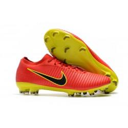 Scarpe da calcio da uomo 2017 - Nike Mercurial Vapor Flyknit Ultra FG Rosso Giallo Nero