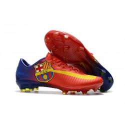 Scarpe Da Calcio Nike Mercurial Vapor XI Tech Craft FG Barcelona Rosso Blu Giallo