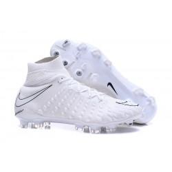 Scarpe Calcio Nike Hypervenom Phantom III DF FG Tutto Bianco