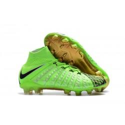Scarpe Calcio Nike Hypervenom Phantom III DF EA Verde Nero Oro FG