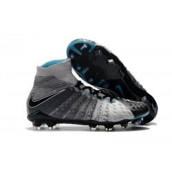 Scarpe Calcio Nike Hypervenom Phantom III DF FG Grigio Nero Blu