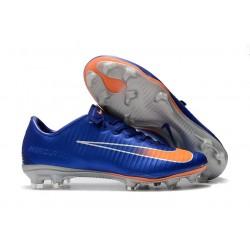 Scarpe Calcio Nike Mercurial Vapor 11 FG CR7 Blu Arancione Argento