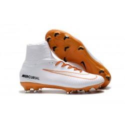 Scarpa da calcio Nike Mercurial Superfly 5 FG - Uomo - Bianco Oro