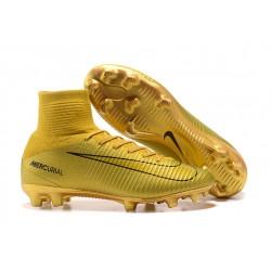 Scarpa da calcio Nike Mercurial Superfly 5 FG - Uomo - Oro Nero