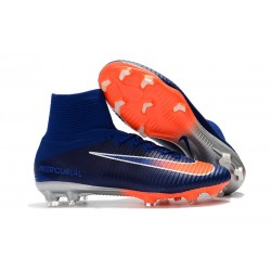 Scarpa da calcio Nike Mercurial Superfly 5 FG - Uomo - Blu Royal Intenso Cromo Cremise Total
