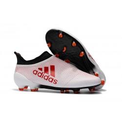 Scarpe da Calcio Adidas X 17+ Purespeed FG Uomo Bianco Rosso Nero