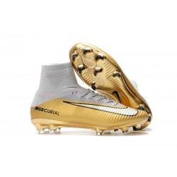 Scarpa da calcio Nike Mercurial Superfly 5 FG - Uomo - Quinto Triunfo Oro Bianco