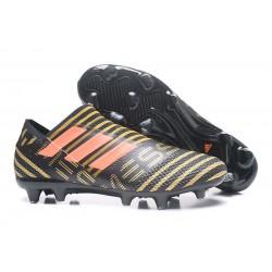 Adidas Nemeziz 17+ 360 Agility FG - Scarpe Da Calcio Uomo Nero Rosso Oro Metallico
