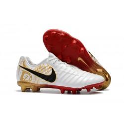 Nike Tiempo Legend 7 FG Scarpe da calcio Uomo Bianco Oro Metallico Vivido