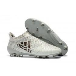 Adidas X 17+ Purespeed FG Tacchetti da Calcio - Uomo Bianco Nero