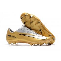 Scarpe Calcio Nike Mercurial Vapor 11 FG CR7 Oro Bianco