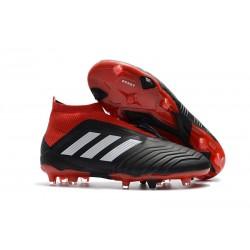 Adidas Predator 18+ FG - Tacchetti da Calcio Nero Rosso Binaco