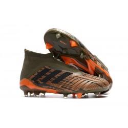 Adidas Predator 18+ FG - Tacchetti da Calcio Oliva Nero Bright Orange