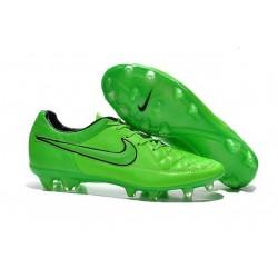 2015 Scarpe Calcio Tiempo Legend V FG Nike Verde Strike Nero