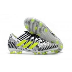 Nuovo Scarpe Da Calcio Adidas Nemeziz Messi 17.1 FG Bianco Giallo Nero