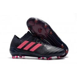 Nuovo Scarpe Da Calcio Adidas Nemeziz Messi 17.1 FG Nero Rosa